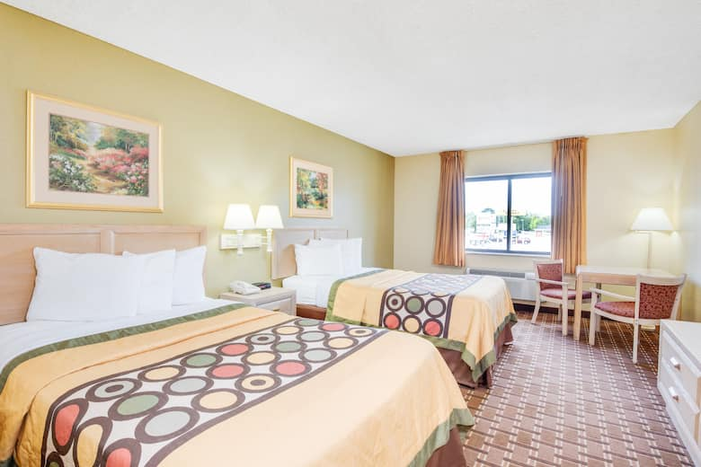 Guest Room At The Super 8 By Wyndham Port Clinton In Ohio