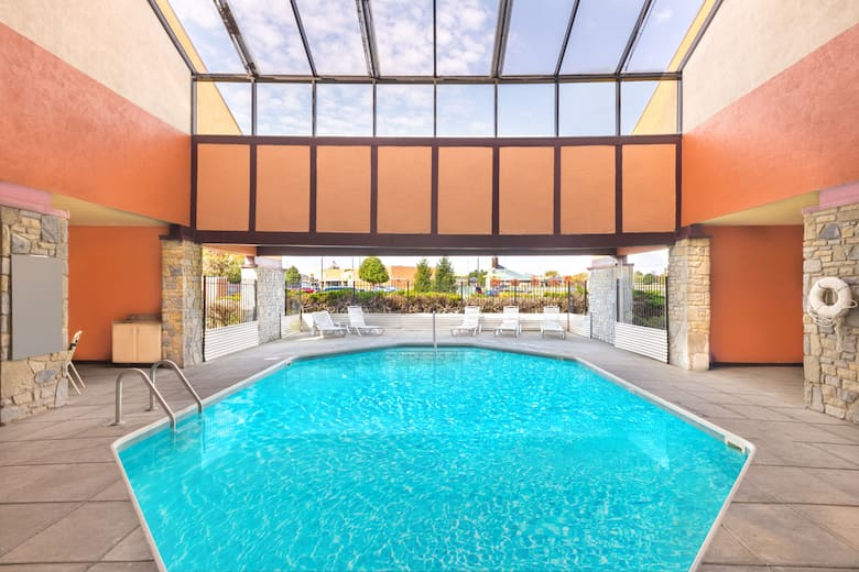 Pool At The Super 8 Vandalia Dayton International Airport In Ohio