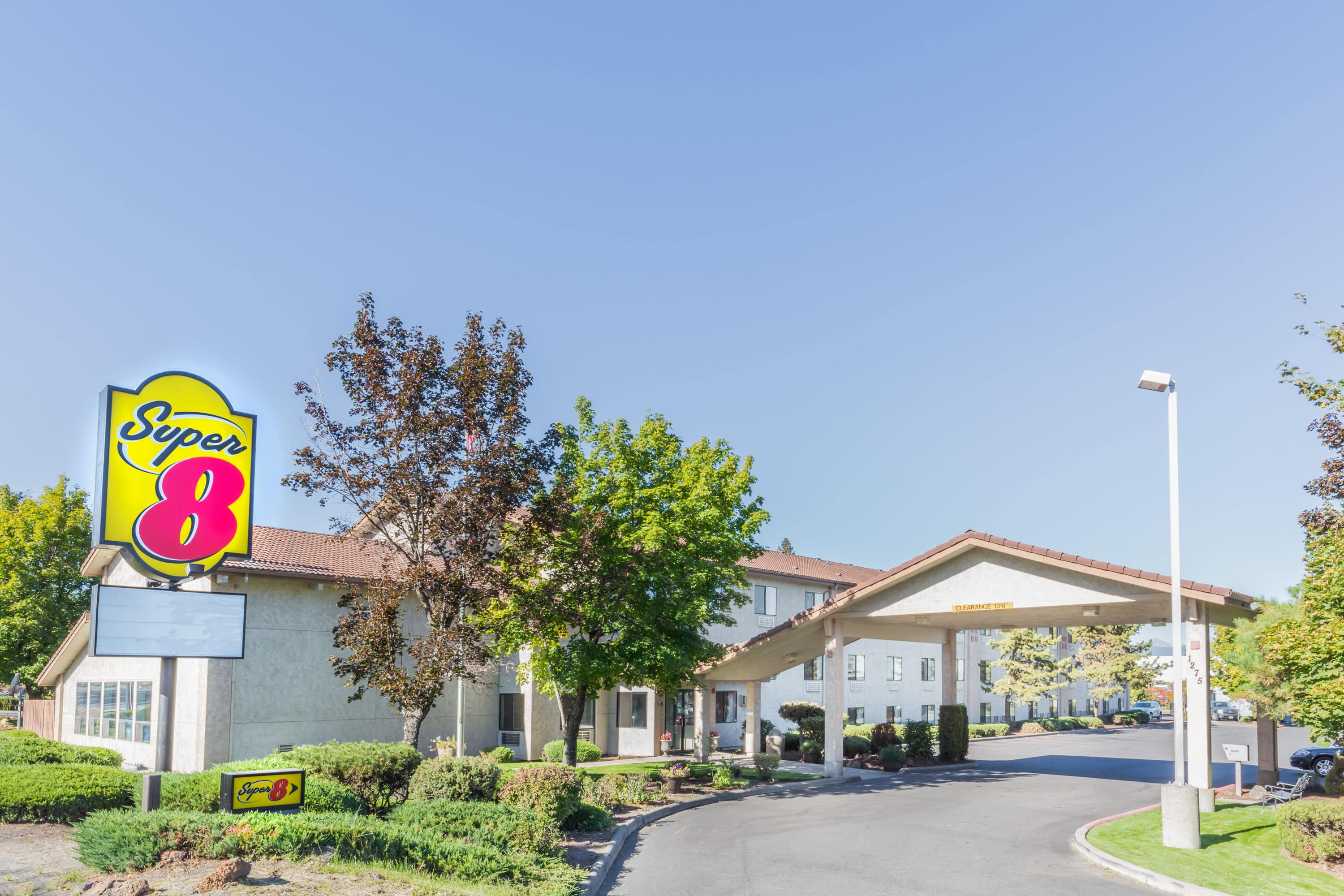 Exterior Of Super 8 By Wyndham Bend Hotel In Bend, Oregon
