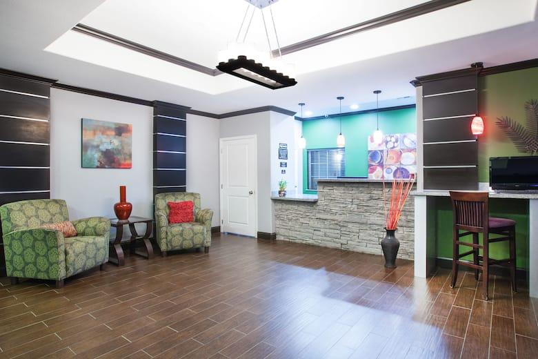 Super 8 Carthage Tx Hotel Lobby In Texas