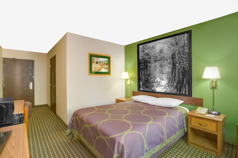 Guest Room At The Super 8 Radford Va In Virginia