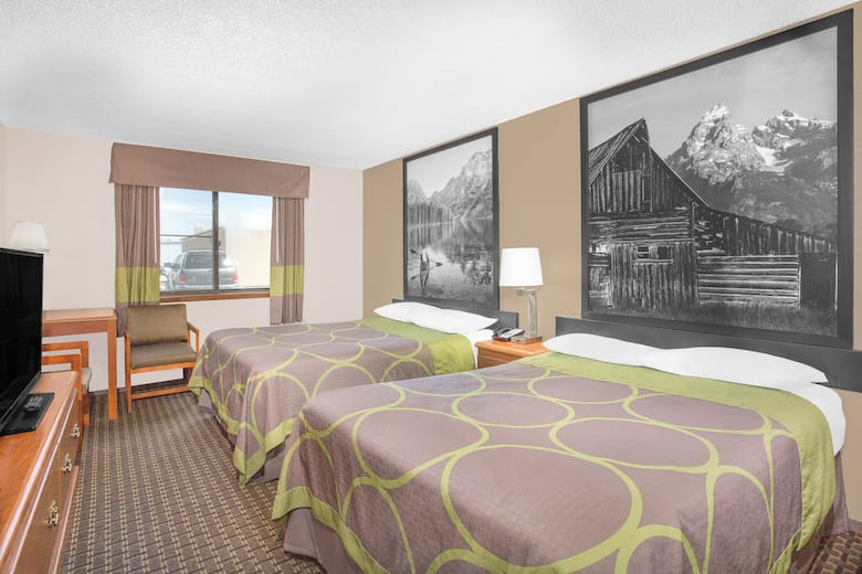 Guest Room At The Super 8 Riverton In Wyoming