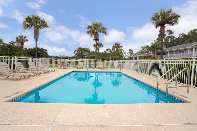 Pool At The Travelodge Suites By Wyndham Macclenny In Florida
